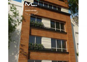 نمای مدرن مسکونی